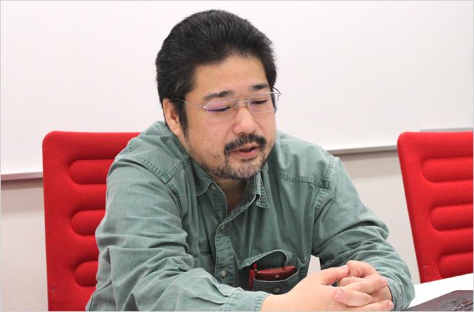 安田英久 インタビュー風景