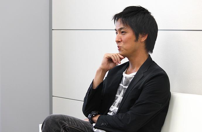 中村健太 インタビュー風景