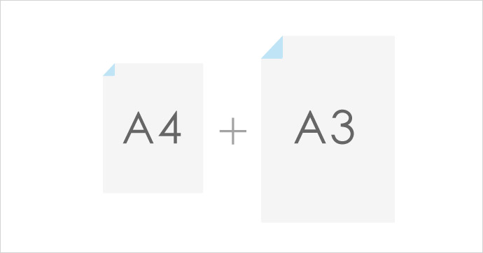 A4とA3の両方
